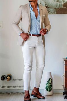 # semi formal Casual Outfits Giorgenti New York Blazer Outfits Men, Stylish Mens Outfits, Mens Blazer Styles, Blue Jeans Outfit Men, Brown Outfit, Casual Outfits, Classy Men, Classy Casual, Men Casual