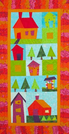Pretty Pieced Houses quilt pattern at Twin Cities Quilting
