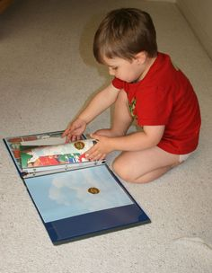 Make your own sticker album sturdy enough for tots (and not just marketed for girls like the ones in the stores).