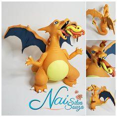 """Quem é  esse Pokémon ?"" CHARIZARD Pokemon Charizard, Tweety, Fictional Characters, Art, Art Background, Kunst, Performing Arts, Fantasy Characters"