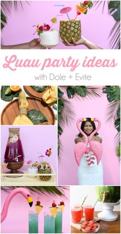 LOTS of luau party ideas!! Try these creative punch drinks! Plus Top 5 punch recipes! Click through for 4 more yummy punch recipes plus luau party ideas!