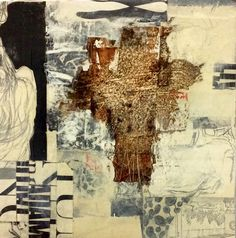 Angela Holland 2016 Mixed media collage on panel