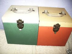 2 1950's Metal 45 rpm Record Cases with indexs each case holds 80 records