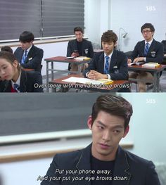 funny quote quotes kdrama minhyuk kim woo bin the heirs yoon chan young choi young do im joo eun Jun Hyun Joo The Heirs Kdrama, Heirs Korean Drama, Korean Drama Funny, Korean Drama Quotes, Drama Korea, Korean Dramas, Funny Asian, W Two Worlds, Kdrama Memes