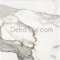 12 x 12 Honed Italian Calacatta Gold Marble Tile - EXTRA PREMIUM Selection