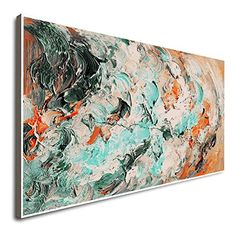 Amazon.com: Textured Original Large Canvas Art Large Wall Painting Artwork On Canvas Gray Artwork Oil Painting Artwork Large Abstract Painting Paintings On Canvas: Handmade