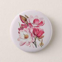 Pink Magnolias Button