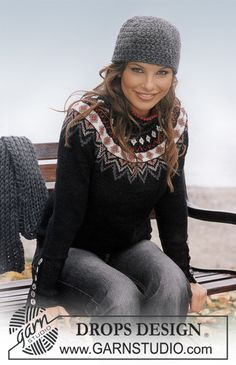 Free pattern: DROPS Pullover, hat and scarf in Karisma Superwash ~ DROPS Design