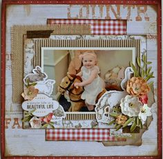 Scrapbooking Layouts, Scrapbook Pages, Farm Layout, Paper People, Life Is Beautiful, Farm Animals, Flute, Projects To Try, Rustic