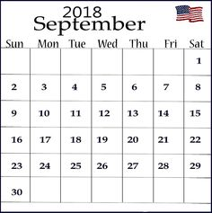 Calendar September 2018 USA 2018 Calendar Template, Excel Calendar, Printable Blank Calendar, Calendar Wallpaper, Free Printables, September, Templates, Usa, Holiday