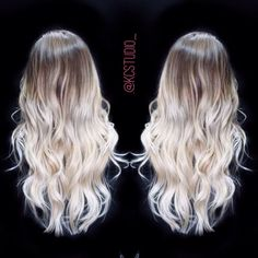Light brown to platinum ombre