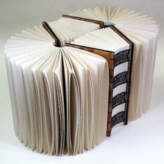 """""""Intervals of Silence"""" : metaphorical book structure bookbinding by Erin Keane"""
