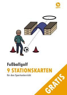 """Fußballgolf-Stationen Football Golf – 9 stations for physical education The football golf stations can be used in primary school grade) and in secondary schools. The goal of the game """"Football Golf"""" is to reach the goal with as few attempts as possible. Primary Education, Primary School, Physical Education, Elementary Schools, Secondary Schools, Trailers Camping, Camping Hacks, Theme Sport, Kids Am"""