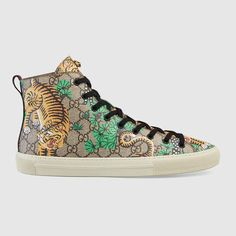 GUCCI Gucci Bengal High-Top Sneaker. #gucci #shoes #men's sneakers