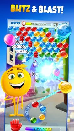 POP FRENZY! The Emoji Movie Game v1.0.2035 [Mod]   POP FRENZY! The Emoji Movie Game v1.0.2035 [Mod]Requirements:4.4 and upOverview:Inspired by Sony Pictures Animation's The Emoji Movie POP FRENZY! The Emoji Movie Game features all your favorite emojis and moments from the movie in this fresh take on the bubble shooter with blitz style gameplay  Help Gene Hi-5 and Jailbreak escape to the cloud by clearing away bubbles standing in their way! Flex those fingers in this new fast-paced bubble…