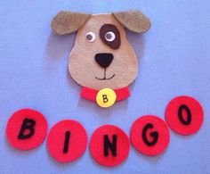 BINGO There was a farmer had dog  Felt Board Set by FeltBoardMagic