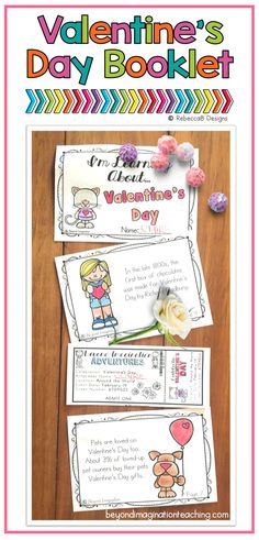 Such a cute book! Valentine's Day activities for little learners.  #tpt #teacher #ideas #valentinesday #book #booklet