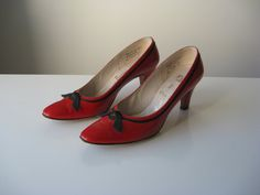 vintage 1950s shoes / 50s heels / Hot Pepper by Dronning on Etsy, $54.00  oh dream shoes, why are you too small for me?