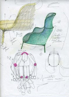Jamie Hayon's concept sketches for Ro. Photo courtesy Hayon Studio.  #chairdesign #sketches #productdesign