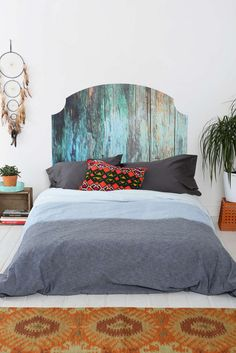 15 Cool DIY Headboards—No Drill Required! via Brit + Co.
