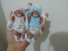 "OOAK 4"" polymer baby dolls"