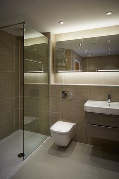 House in Hiltingbury II: modern Bathroom by LA Hally Architect Small Shower Room, Small Toilet Room, Small Bathroom Layout, Bathroom Design Layout, Washroom Design, Bathroom Design Luxury, Small Toilet Design, Modern Toilet Design, Modern Small Bathroom Design