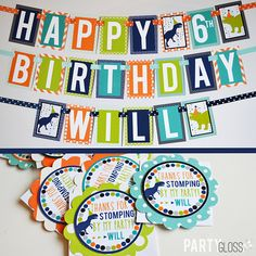 Dinosaur Birthday Party Decorations Package Fully Assembled