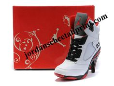 44d04ba370a5 Buy Air Jordan 5 V Womens Heels Ankle Boots White Red Outlet