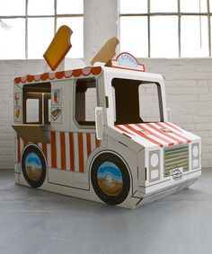 Cardboard Imagine Wagon by Build a Dream Playhouses #zulily #ad *love this