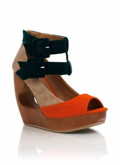 colorblock cut-out wedges$32.60