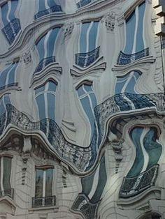 The exterior of a building in Paris - WOW!