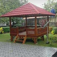 Thought of one of many noblest constructing supplies - and likewise a favourite of many international architects - wooden delivers . Wooden House Design, Bahay Kubo, Bamboo House, Wood Architecture, Backyard Playground, Gazebo, Modern, House Plans, Exterior