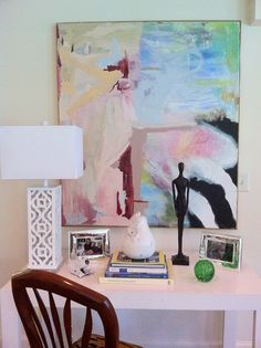 Ashlee pinned this for the art, but I'm in love with that lamp!