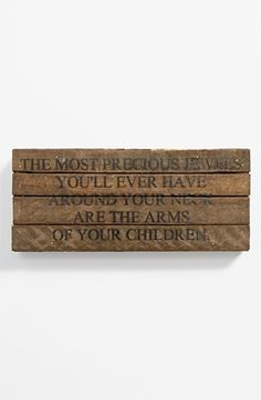 Second Nature By Hand 'The Most Precious Jewels' Wood Wall Plaque available at #Nordstrom