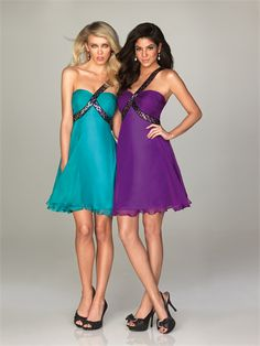 turquoise and purple dresses | Turquoise And Purple Wedding Dresses Purple one shoulder short