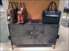 Tom Ford Metal Cabinet Industrial Chic Staging