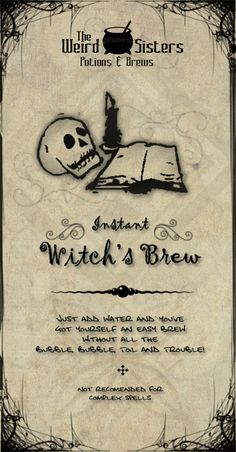 Halloween - Instant Witch's Brew Label...