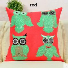 Cartoon owl animal suede pillow for home decoration American country style decorative sofa cushions