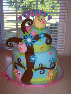 Happi Tree Shower Cake