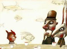 "Daria Palotti illustration for ""Alice in Wonderland""."