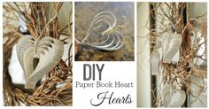 Paper Hearts DIY - See this and more at fabulesslyfrugal.com