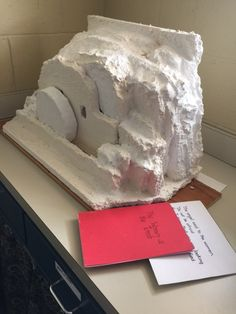 Women at the Tomb lesson; tomb made of Styrofoam pieces with plaster of paris overlay