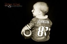 Football baby photography. Lions football. Six month photo's. baby phototography