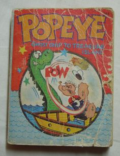 Popeye Ghost Ship to Treasure Island By Paul S Newman - Vintage 1967 Whitman A Big Little Book - Vintage Comic Book - Vintage Cartoon Book by NostalgicInMS on Etsy