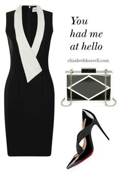A beauty collage from August 2015 featuring hardcase clutch, babydoll dresses and Christian Louboutin. Browse and shop related looks. Classy Outfits, Stylish Outfits, Beautiful Outfits, Cute Outfits, Work Fashion, Fashion Beauty, Fashion Looks, Womens Fashion, Mode Chic
