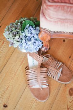 Sweet and sophisticated tan sandals with elasticated ankle band and T-bar with Straps.