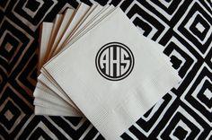 monogram napkins.
