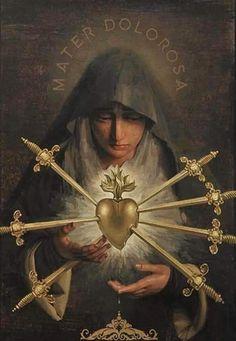 Catholic Prayers, Catholic Art, Catholic Saints, Religious Images, Religious Icons, Religious Art, La Salette, Catholic Pictures, Our Lady Of Sorrows