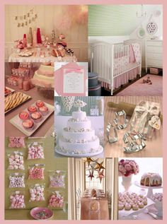 The perfect girlie party ideas....would work for a baby shower or a tea party