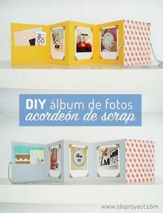 Álbum de fotos de scrapbooking acordeón tutorial DIY Scrapbooking photo album accordion DIY tutorial